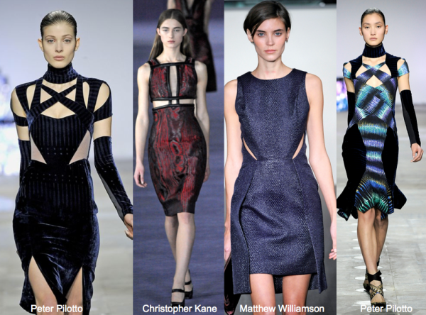 3_F!2 LFW cutout dress peter pilotto christopher kane matthew williamson